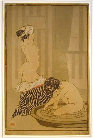femmes au tub (women bathing) by adolphe marie timothée beaufrère