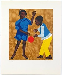 playmates by elizabeth catlett