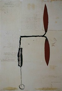 avió hèlix vermella sobre manuscrits by josep riera i arago