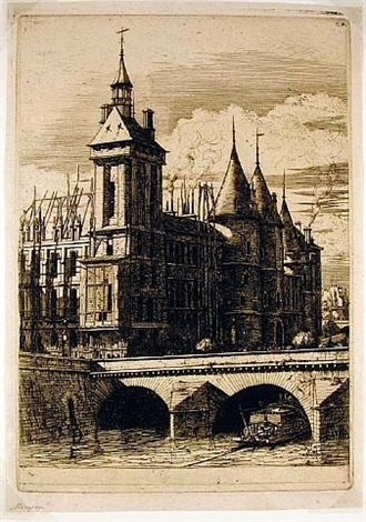 la tour de l'horloge (the clock tower, paris) by charles meryon