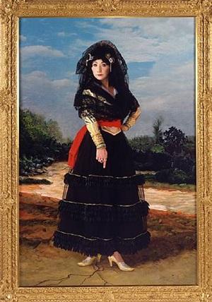 dedicated to la duquesa de alba/black alba by yasumasa morimura