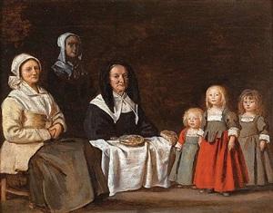 deux femmes avec trois enfants by antoine (l'aine) le nain