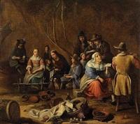 scène d'intérieur de cuisine by gillis van tilborgh