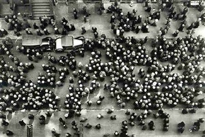 hats in the garment district, new york by margaret bourke-white