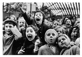 children at a puppet theatre, paris by alfred eisenstaedt