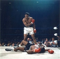 muhammad ali knocks out sonny liston, lewiston, maine, may 25 by neil leifer