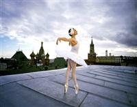 rooftop ballerina (nadia grachevo, prima ballerina), bolshoi ballet, moscow by joe mcnally