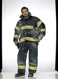 faces of ground zero: louie cacchioli, firefighter, engine 47, fdny by joe mcnally