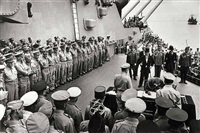 japanese surrender on board the u.s.s. missouri in tokyo bay, september 2 by carl mydans