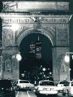 world trade center and washington square arch, new york by carolyn schaefer