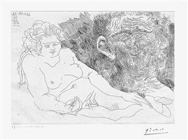 vieux peintre et vieux modele, from the 156 series, 23-26 june and 6 july by pablo picasso