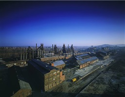 aerial view of lehigh division, bethlehem steel by stephen wilkes