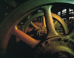 vintage flywheels, bethlehem steel by stephen wilkes