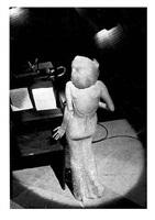 "marilyn monroe singing ""happy birthday"" to president john f. kennedy, madison square garden, ny by bill ray"