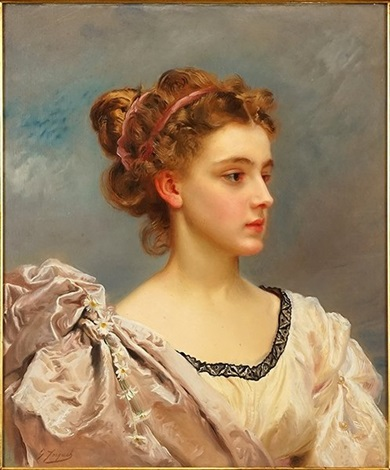 A Young Beauty by Gustave Jean Jacquet on artnet