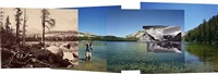four views from four times and one shoreline, lake tenaya by byron wolfe and mark klett