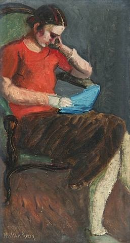 reader by milton avery
