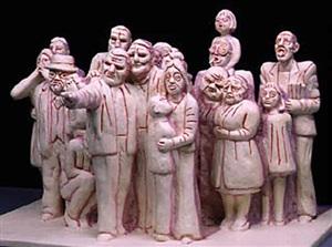 "study for ""illuminated crowd"", montreal by raymond mason"