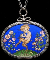 dancing satyr pendant by harold stabler and phoebe stabler