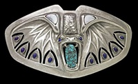 rare jugendstil buckle, executed by theodor fahrner by julius muller-salem