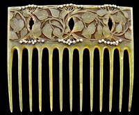 art nouveau comb by henri vever