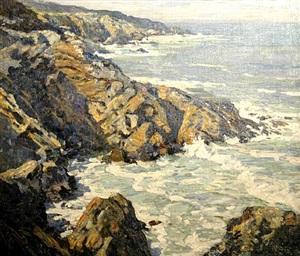 rocky shore, circa 1922 by walter elmer schofield