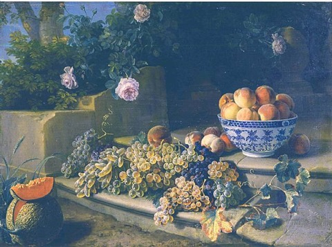 still-life with fruits and flowers by alexandre françois desportes