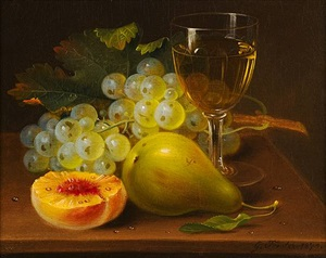 still life with fruit and wine glass by george forster