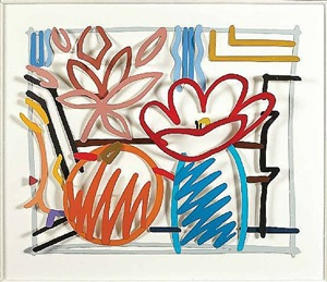 maquette for still life with orange and tulip doodle by tom wesselmann