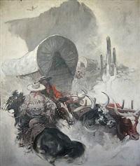 untitled (western scene) by benton henderson clark