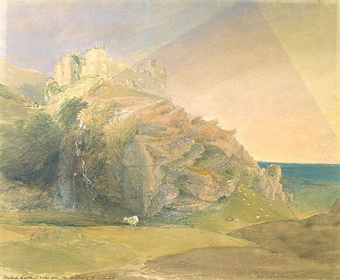harlech castle at sunset by samuel palmer