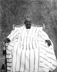 sa majeste l'empereur le mogho naba ban ogo , mossi by jean-dominique burton