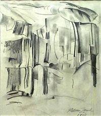 a wall of cliffs, yosemite by william zorach