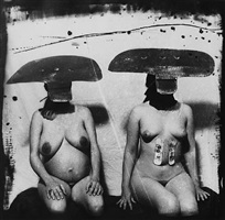 id photograph from purgatory: two women with stomach irritations, new mexico by joel-peter witkin