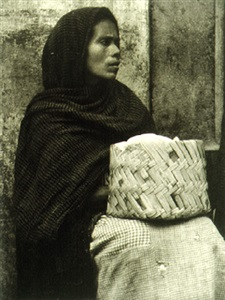 woman - patzcuaro from photographs of mexico portfolio (photograph copyright ©1940 by the aperture foundation, inc., paul strand archive) (103169) by paul strand
