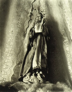virgin of san felipe, oaxaca (photograph copyright ©1940 by the aperture foundation, inc., paul strand archive) (100145) by paul strand