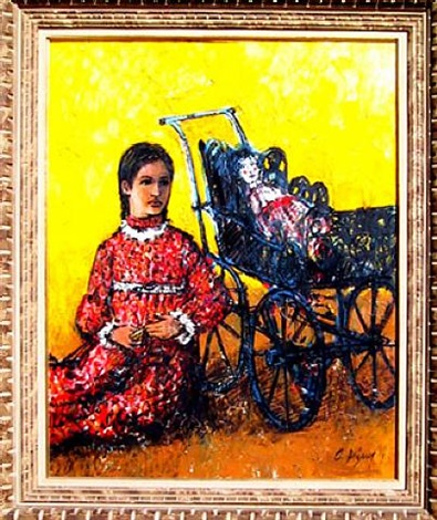 untitled (girl with stroller) by carlos irizarry