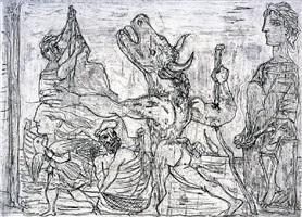 minotaure aveugle guidé par une fillette iii by pablo picasso