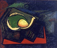 cubist still life with pear by alfred henry maurer