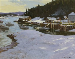 winter day, stonington, me by caleb stone