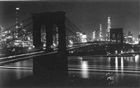brooklyn bridge at night by andreas feininger
