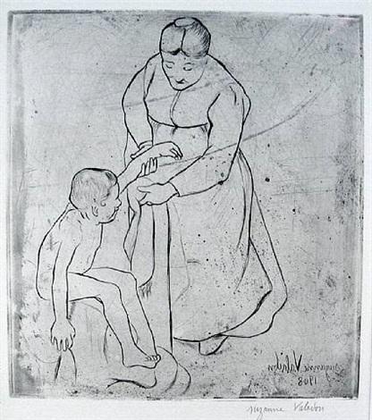 grandmere et enfant by suzanne valadon