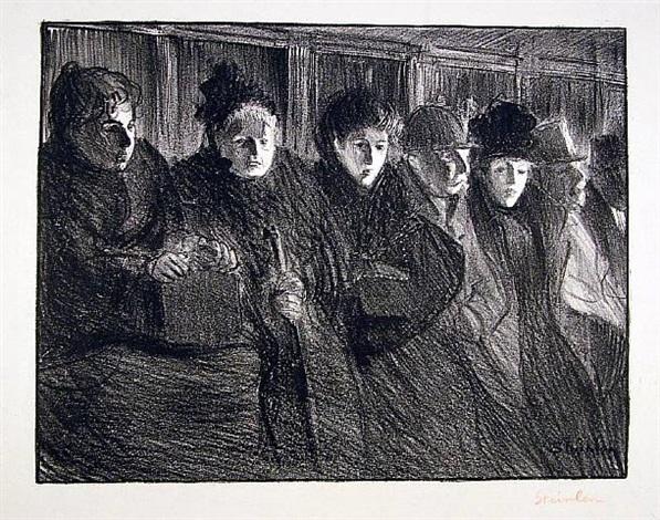 interior of tramway by théophile alexandre steinlen