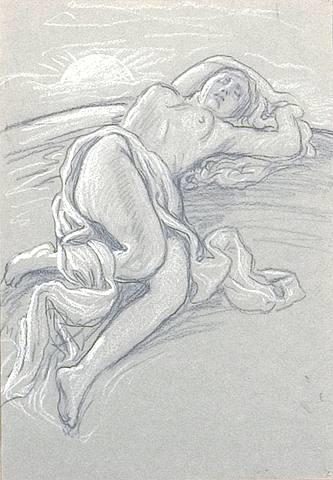 sunrise and sleep by elihu vedder