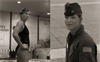 robin cadow, swimmer, usafa #1 & #2 by anderson & low