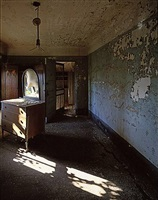 room with dresser and mirror, ellis island by stephen wilkes