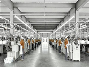 factory workers, lanswe sock factory by stephen wilkes