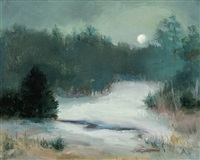 february night (sold) by andrea scheidler