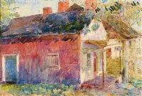 the red store by childe hassam