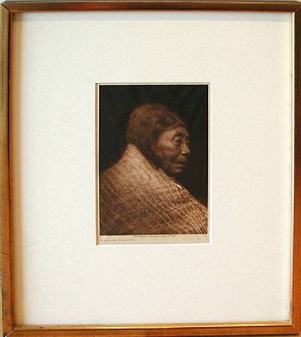 portrait of a woman (from album of west coast canadian indians) by edward sheriff curtis